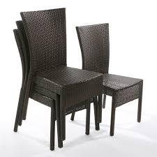 chaise tress e lot de 4 chaises brighton résine tressée achat vente fauteuil