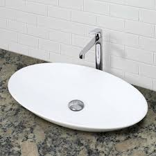 decolav 1448 cwh oval above counter vitreous china bathroom sink
