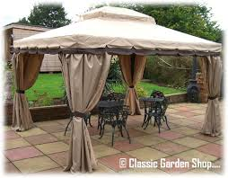 luxury garden party tent gazebo tub shelter with curtains