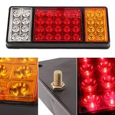 trailer tail lights for sale 1 pair 36 led 12v rear truck auto car van l tail light trailer