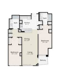 Two Bedroom Floor Plans West End Residences Apartments 1221 24th Street Nw Washington