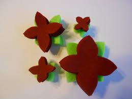 56 pieces felt flower poinsettia set felt craft die cut felt