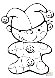 baby clown coloring page free printable coloring pages