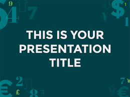 free presentation template finance style