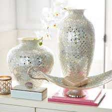 Pier One Vase White U0026 Silver Mosaic Vases Pier 1 Imports