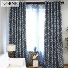 rideau de fenetre de chambre norne moderne géométrique motif fenêtre traitement rideaux