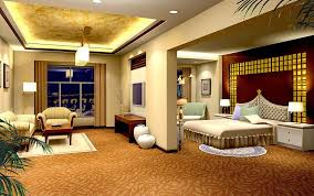 Yellow Bedroom And Living Room Design Night Rendering Nails - Room designs bedroom