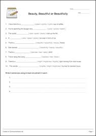 adjective or adverb worksheet