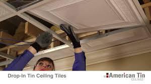 tin ceiling installation methods youtube