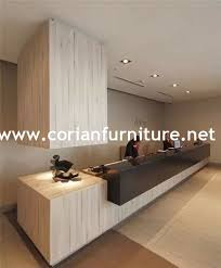 Acrylic Reception Desk Modern Design Acrylic Solid Surface Hi Macs Surfaces Office
