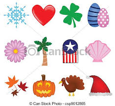 clipart vector of icons a colorful collection of icons