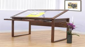 Glass Top Drafting Drawing Table Studio Designs Ponderosa Glass Topped Table In Sonoma Brown 13280