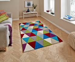 hong kong bright triangle design rug hand tufted 100 acrylic home