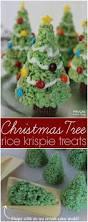 christmas tree rice krispie treats holiday kids food craft