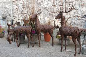 deer statues outdoor decor