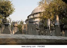 Ottoman Officials Perched On A Hill At The Golden Horn Eyup Mosque Is Surrounded By