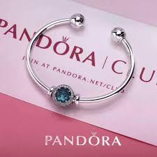 bangle charm bracelet pandora images New pandora open bangle bracelet with birthstone charm 11 colors JPG