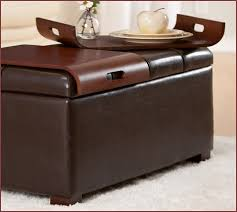 red leather ottoman coffee table home design ideas