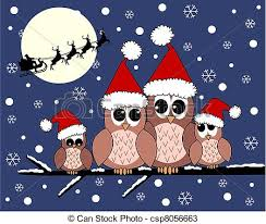 owl christmas merry christmas a owl family vectors search clip