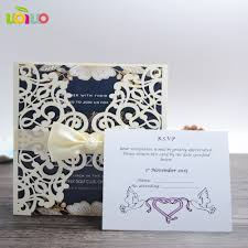 Wedding Invitation Cards Buy Online Online Buy Wholesale Wedding Card With Lace Ribbon From China