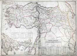 Ottoman Map Large Scale Detailed Administrative Divisions Map Of Ottoman
