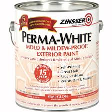 Zinsser Adhesive Remover by Zinsser Perma White Mildew Proof Exterior Paint 3131 Do It Best