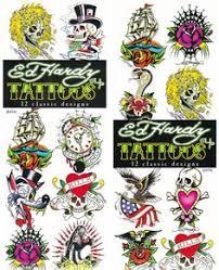 ed hardy skull temporary tattoos