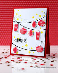 New Year Decoration Hand Made by Chinese New Year Card By Wanda Guess Stamps From Avery Elle