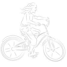 on a bike sketch royalty free stock images image 28697469