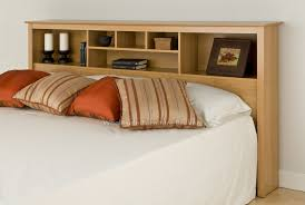 Bookcase Headboard With Drawers Dorm Bedroom With Maple King Bookcase Headboard Six Storage