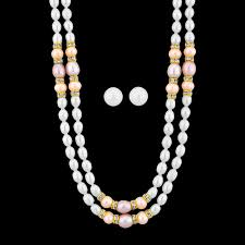 pearls necklace online images Sri jagdamba pearls aaa quality 2 line pearl necklace buy online png