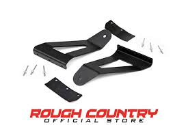 jeep cherokee logo 50 inch curved led light bar upper windshield mounting brackets