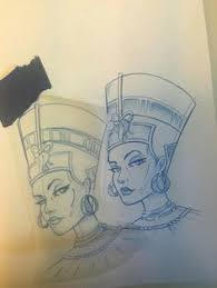 queen nefertari tattoo queen nefertiti tattoo design τattoos pinterest nefertiti