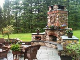 outdoor fireplace pizza oven rainfall shower head combo stone