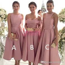 pink bridesmaid dresses 2017 tea length blush pink bridesmaid dresses 12y for hot sale tea