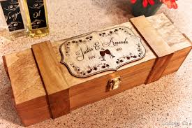wine box wedding ceremony personalized wine box wood engraved wedding in wine