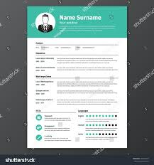 Resume Vector Cv Resume Template Vector Graphic Layout Stock Vector 339494729