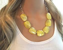 Marvellous J Crew Chandelier Earrings Yellow Bib Necklace Etsy