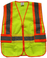 Construction High Visibility Clothing Yellow Mesh Reflective Safety Vest Two Pockets Running Exercise