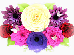 giant paper flower template set of 4 large paper flowers
