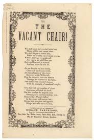 from thanksgiving 1861 today the vacant chair pastor