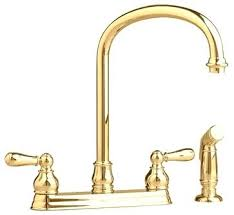 polished brass kitchen faucets polished brass kitchen faucet single handle side sprayer kitchen