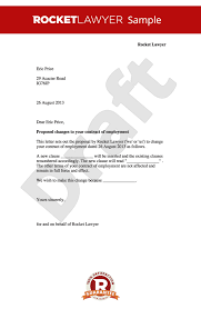 contract amendment letter change to employment terms letter