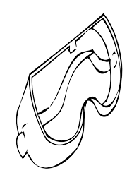 goggles coloring page handipoints