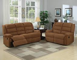 chocolate fabric modern reclining sofa u0026 loveseat set w options