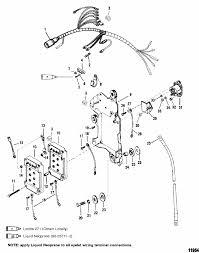 wiring harness starter solenoid for mercury mariner 135 150