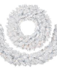 Lighted Outdoor Wreaths Accessories Outdoor Pre Lit Christmas Swags White Pre Lit Garland