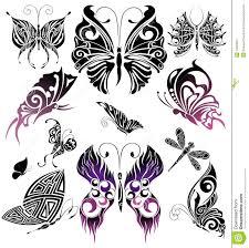design tattoo butterfly set of tattoo butterflies tattoo design stock image image 14233521
