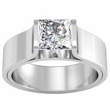 flat engagement rings tension set style princess solitaire flat engagement ring