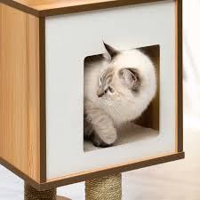 amazon com vesper cat furniture walnut v base pet supplies